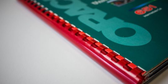 Façonnage - Reliures spirales plastiques